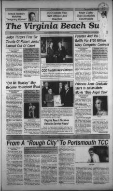 Blue Angel Cafe - Virginia Beach Sun (21 dec.1988) p01
