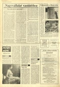 Emmanuelle 2 - Bacs Kiskun Megyei Nepujsag Avril 1990 (Hongrie)