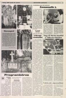Emmanuelle 2 -Heves Megyei Nepujsag Avril 1990 (Hongrie)
