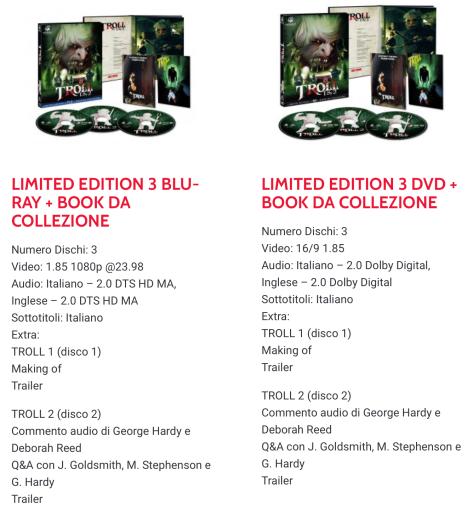 Coffrets Troll 1&2, DVD:BR (Italie) A1