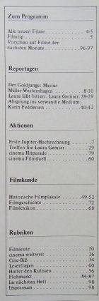 CINEMA das kinoprogramm 1981 - avril 1981 (Ger.) p01